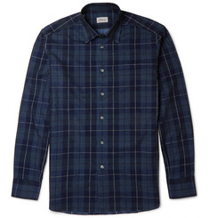 Brioni Checked Cotton-Corduroy Shirt