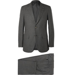 Brioni Grey Slim-Fit Houndstooth Cashmere and Silk-Blend Suit
