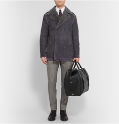 Brioni Panelled Leather Duffle Bag