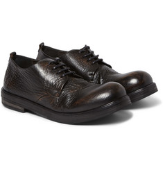 Marsell - Burnished Full Grain Leather Derby Shoes