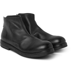 Marsell Grained-Leather Boots