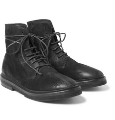 Marsell Brushed-Nubuck Lace-Up Boots