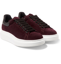 Alexander McQueen Leather-Trimmed Suede Sneakers