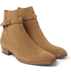 Saint Laurent Cigar Suede Jodhpur Boots