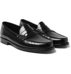 Saint Laurent Leather Penny Loafers