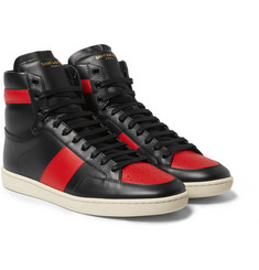 Saint Laurent Leather High-Top Sneakers