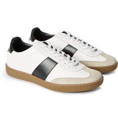 Saint Laurent Suede-Trimmed Leather Sneakers