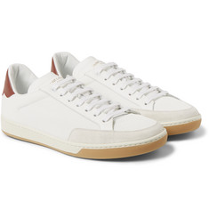 Saint Laurent Leather and Mesh Sneakers