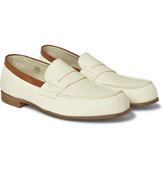 J.M. Weston 281 Le Moc Textured-Leather Loafers