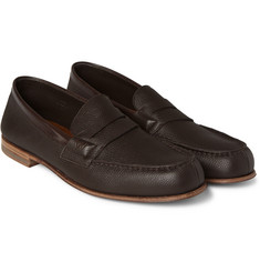J.M. Weston 281 The Moccasin Grained-Leather Loafers