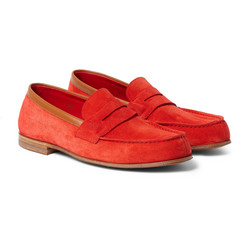 J.M. Weston 281 The Moccasin Suede Loafers