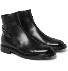 Brioni Buckle-Detailed Leather Boots