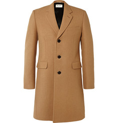 Saint Laurent Slim-Fit Camel Chesterfield Coat