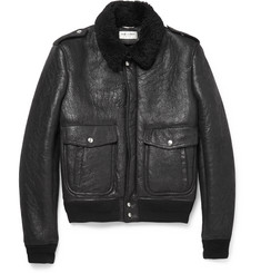 Saint Laurent Shearling Flight Jacket