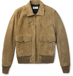 Saint Laurent Western Suede Flight Jacket