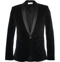 Saint Laurent - Black Slim-Fit Velvet Tuxedo Jacket