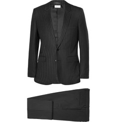 Saint Laurent Black Slim-Fit Pinstriped Wool Suit