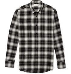 Saint Laurent Slim-Fit Checked Flannel Shirt
