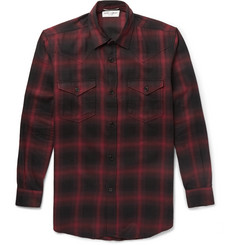 Saint Laurent Slim-Fit Checked Cotton and Lyocell-Blend Shirt