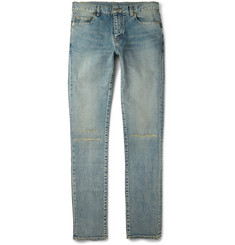 Saint Laurent Skinny-Fit 15cm Hem Ripped Denim Jeans
