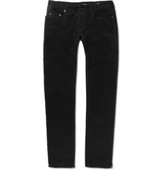 Saint Laurent Slim-Fit 17cm Hem Stretch Cotton-Corduroy Jeans