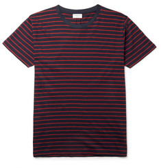Saint Laurent Striped Cotton and Tencel-Blend Jersey T-Shirt