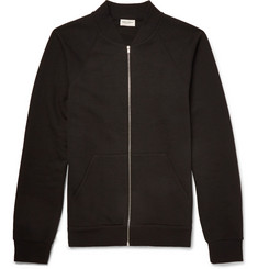 Saint Laurent Slim-Fit Zip-Through Cotton-Jersey Sweatshirt