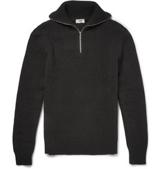 Saint Laurent Half-Zip Wool Sweater