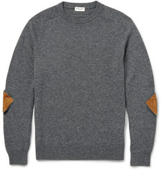 Saint Laurent Elbow Patch Cashmere Sweater