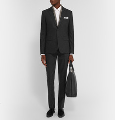 Saint Laurent Grey Slim-Fit Wool and Cashmere-Blend Suit Trousers
