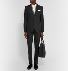 Saint Laurent Grey Slim-Fit Wool and Cashmere-Blend Blazer