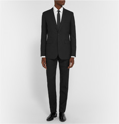 Saint Laurent Black Wool-Gabardine Suit