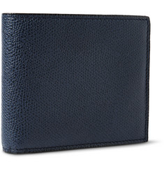 Valextra Pebbled-Leather Billfold Wallet