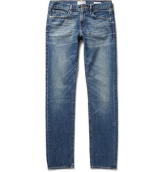 Frame Denim L'Homme Slim-Fit Washed-Denim Jeans