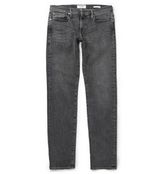 Frame Denim Badlands Slim-Fit Washed-Denim Jeans