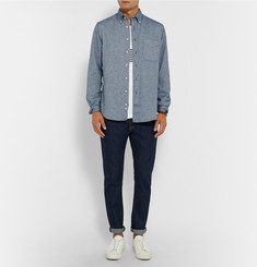 Gitman Vintage Slub Herringbone Cotton Shirt
