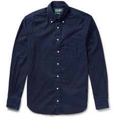 Gitman Vintage Button-Down Collar Polka-Dot Cotton-Flannel Shirt