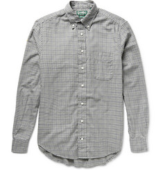 Gitman Vintage Button-Down Collar Micro-Gingham Checked Cotton Shirt
