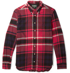Gitman Vintage Button-Down Collar Checked Cotton-Flannel Shirt