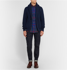 Aspesi Checked Stretch Cotton-Flannel Shirt