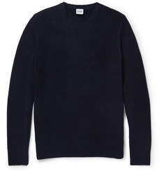 Aspesi Waffle-Knit Wool and Cashmere-Blend Sweater