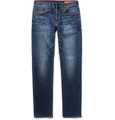 Jean Shop Slim-Fit Washed-Denim Jeans