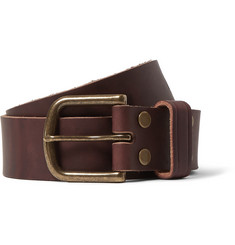 Jean Shop Brown 4cm Leather Belt