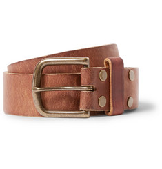 Jean Shop Tan 4cm Leather Belt