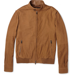Tod's Lightweight Suede Bomber Jacket