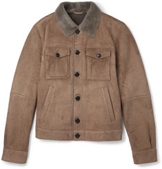 Tod's Lasered Cord-Effect Shearling Jacket