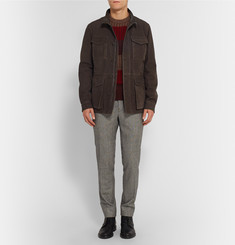 Tod's Wool-Lined Suede Field Jacket