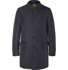 Tod's Leather-Trimmed Padded Shell Raincoat