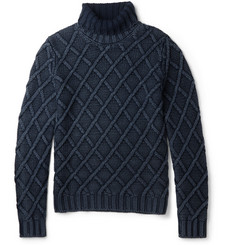 Tod's Cable-Knit Frosted Wool Sweater