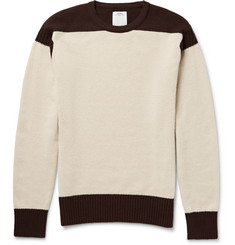 Visvim Isles Two-Tone Wool and Cashmere-Blend Sweater